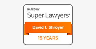 Rated By Super Lawyers | David I. Shroyer | 15 Years